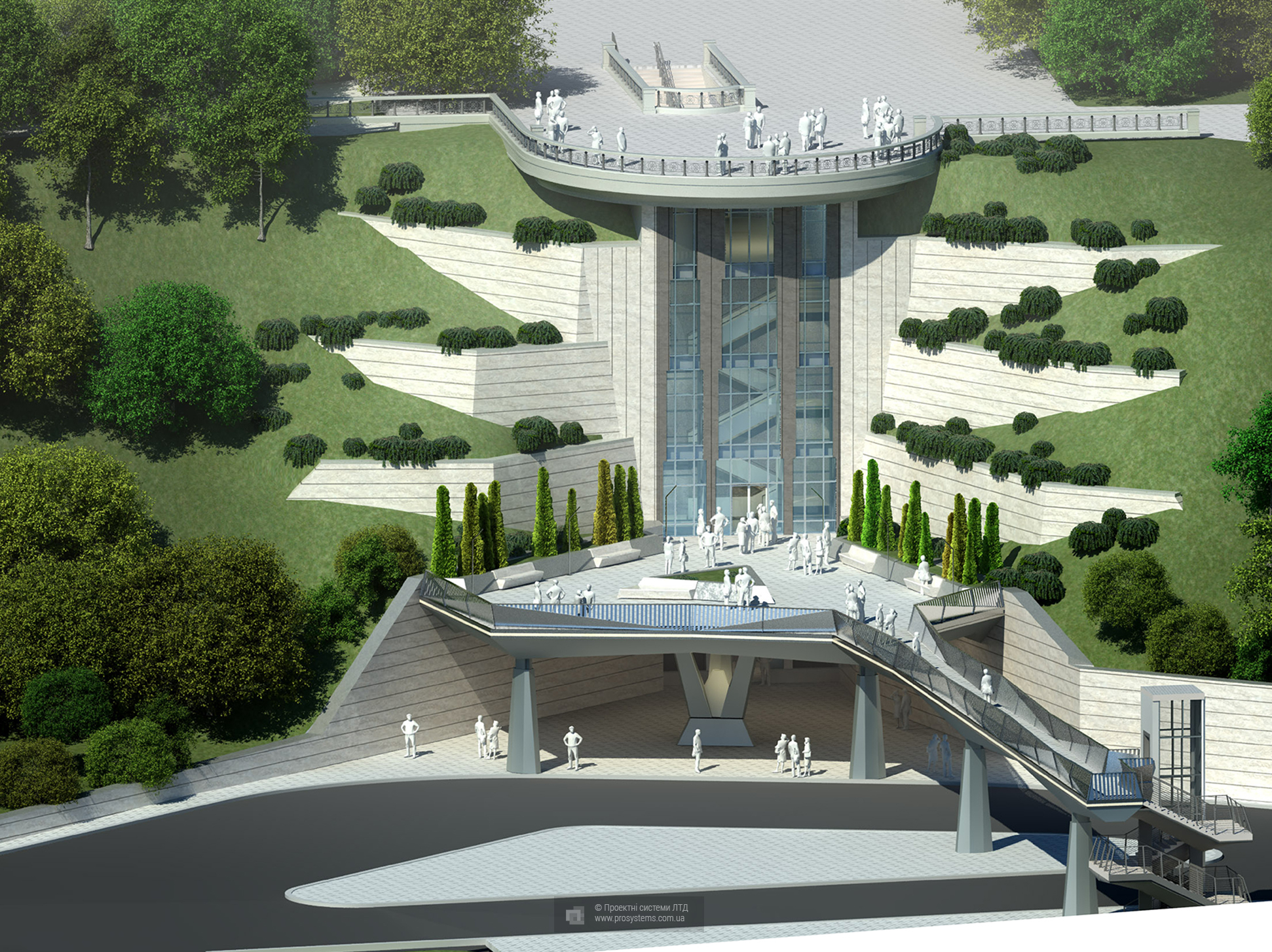 Reconstruction of the observation deck on the Parkova Rd